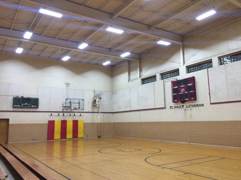 LED High Bay Gym Installation