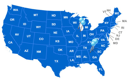 USA LED Lighting Manufacturing Locations